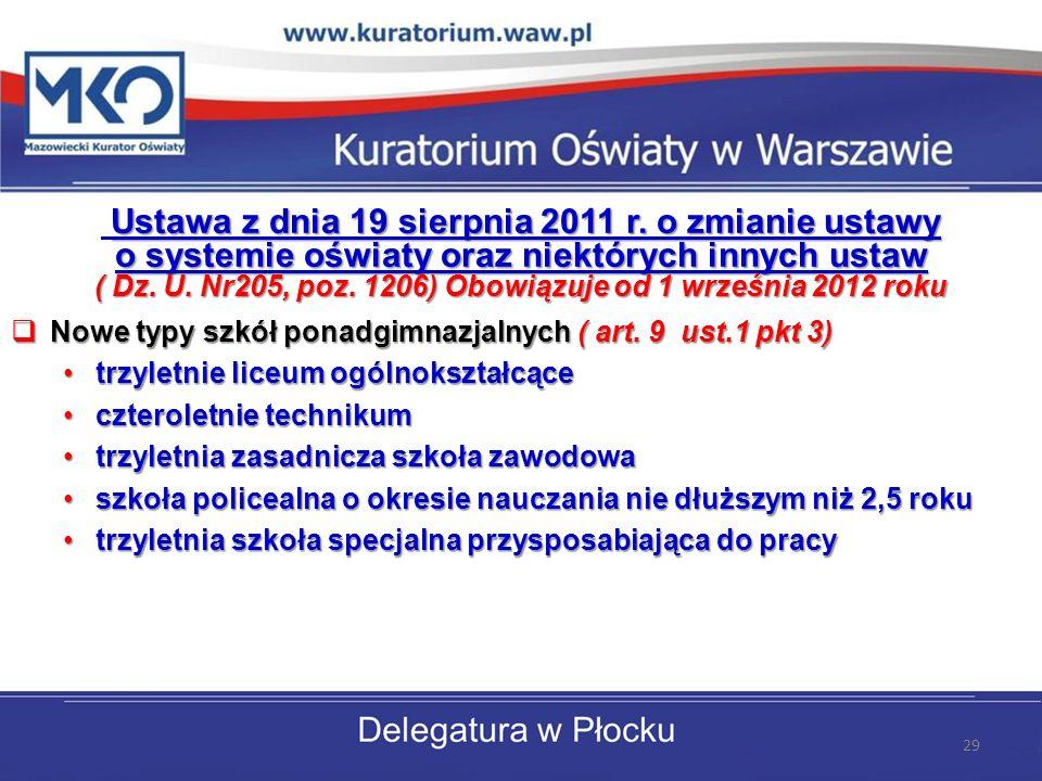 Ustawa z dnia 19 sierpnia 2011 r