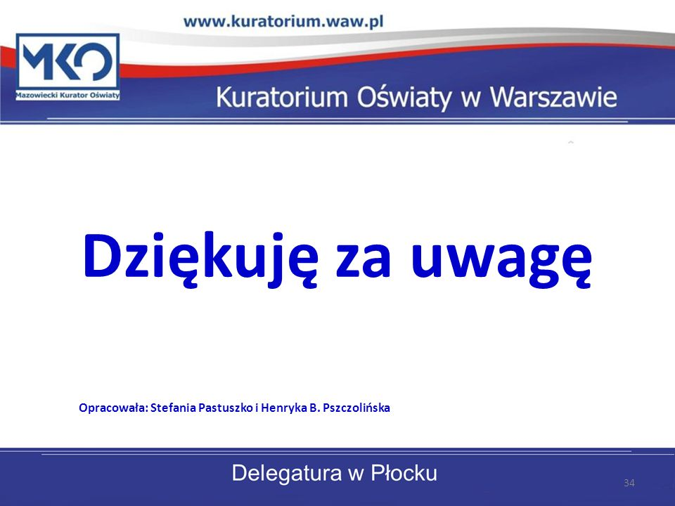 Opracowała: Stefania Pastuszko i Henryka B. Pszczolińska