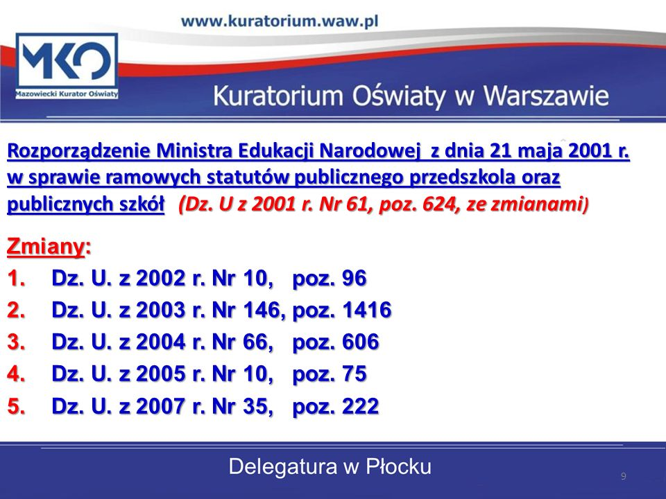 Rozporządzenie Ministra Edukacji Narodowej z dnia 21 maja 2001 r