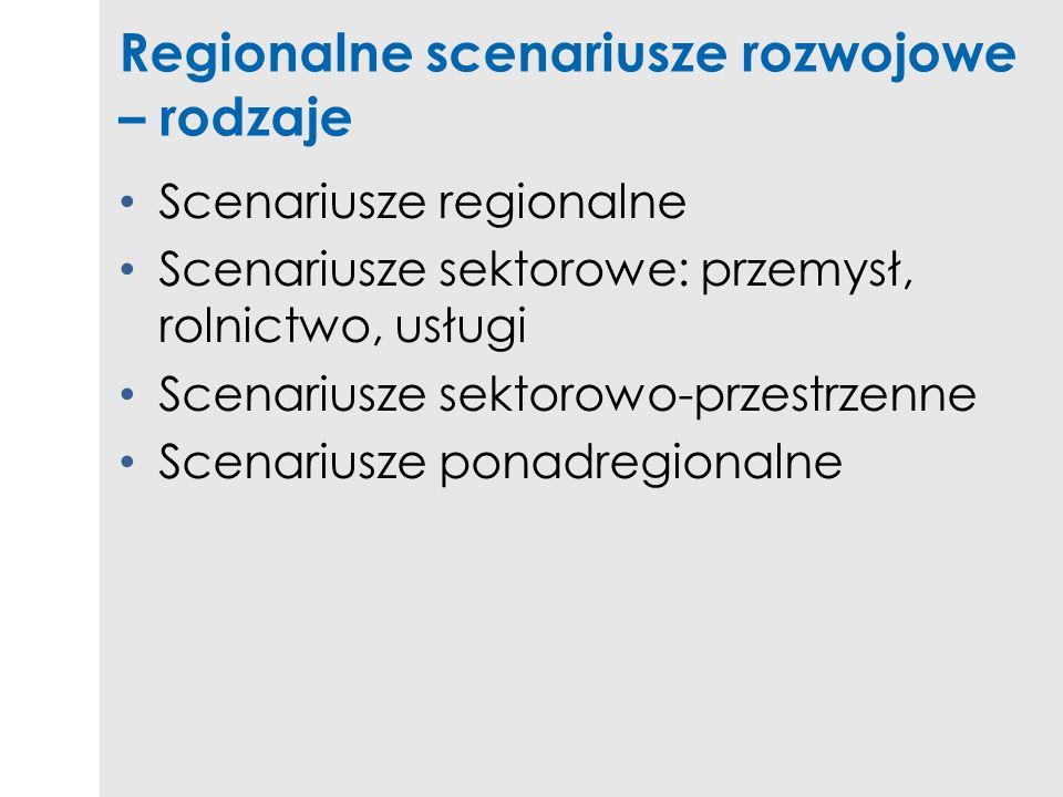 Regionalne scenariusze rozwojowe – rodzaje