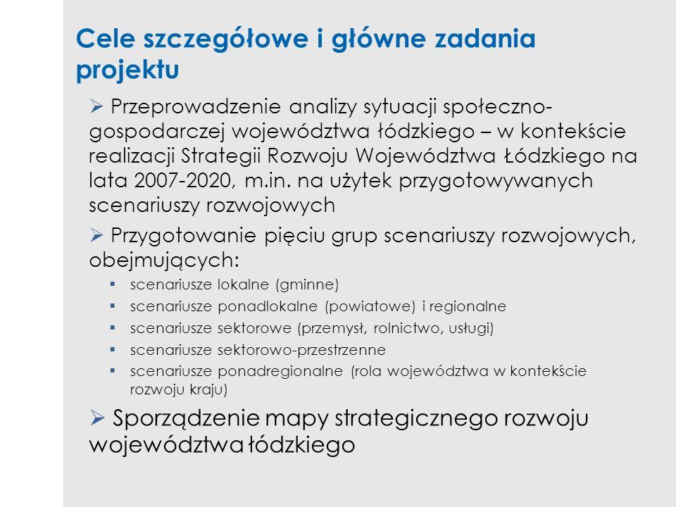 Cele szczegółowe i główne zadania projektu