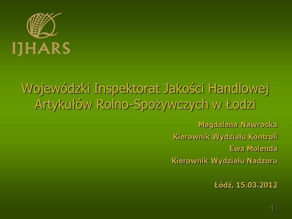 Magdalena Nawrocka Kierownik Wydziału Kontroli. Ewa Molenda. Kierownik Wydziału Nadzoru. Łódź, 15.03.2012.
