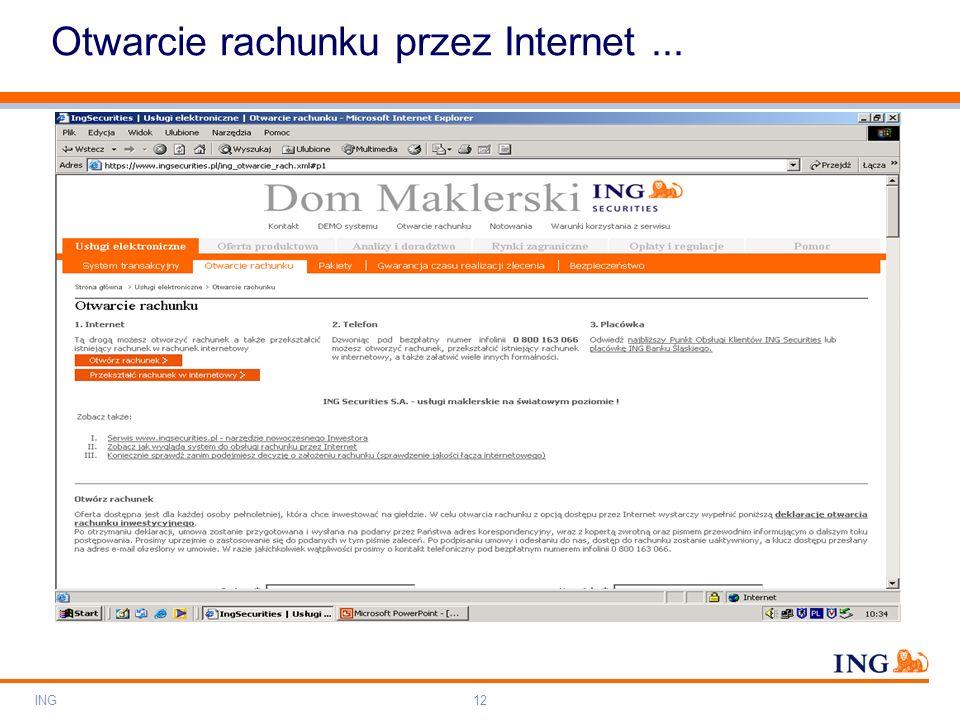 Otwarcie rachunku przez Internet ...