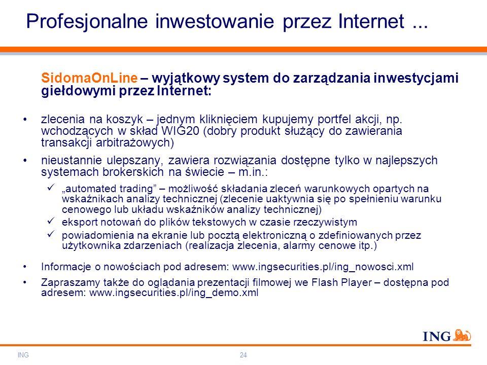 Profesjonalne inwestowanie przez Internet ...