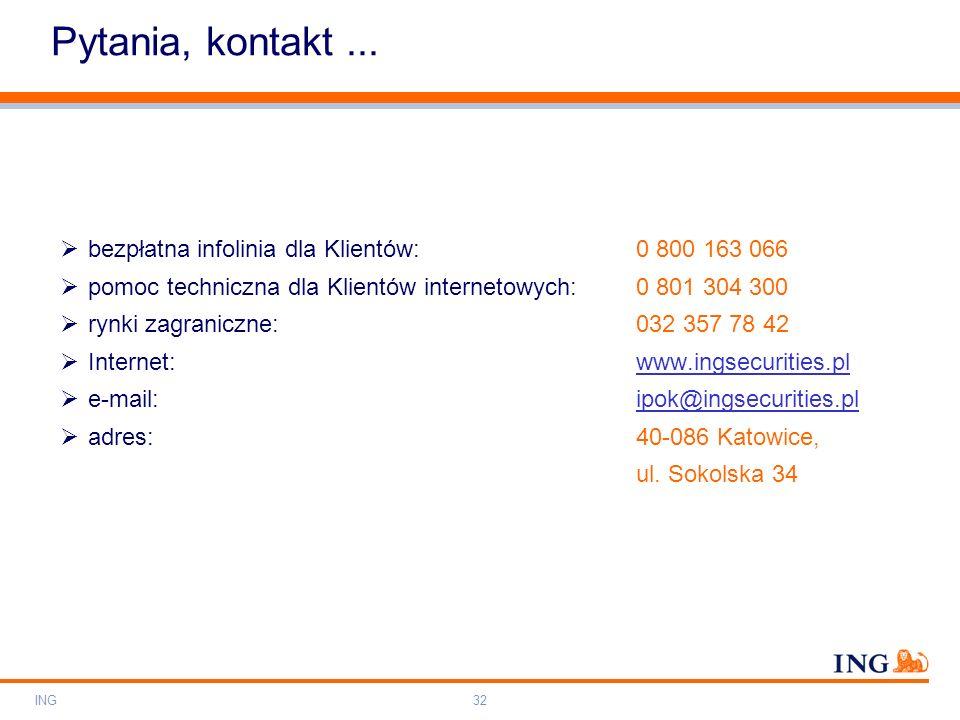 Pytania, kontakt ... bezpłatna infolinia dla Klientów: 0 800 163 066