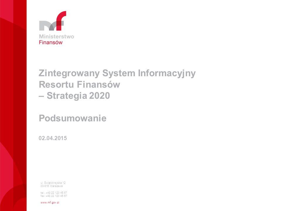 Zintegrowany System Informacyjny Resortu Finansów – Strategia 2020