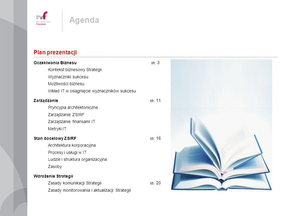 Agenda Plan prezentacji Oczekiwania Biznesu