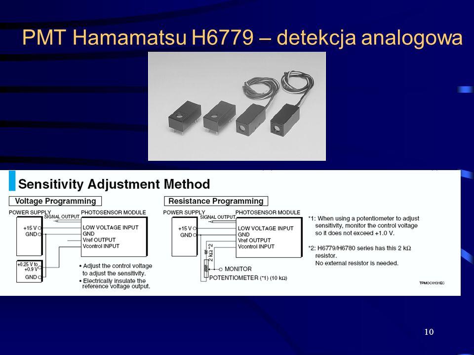 PMT Hamamatsu H6779 – detekcja analogowa