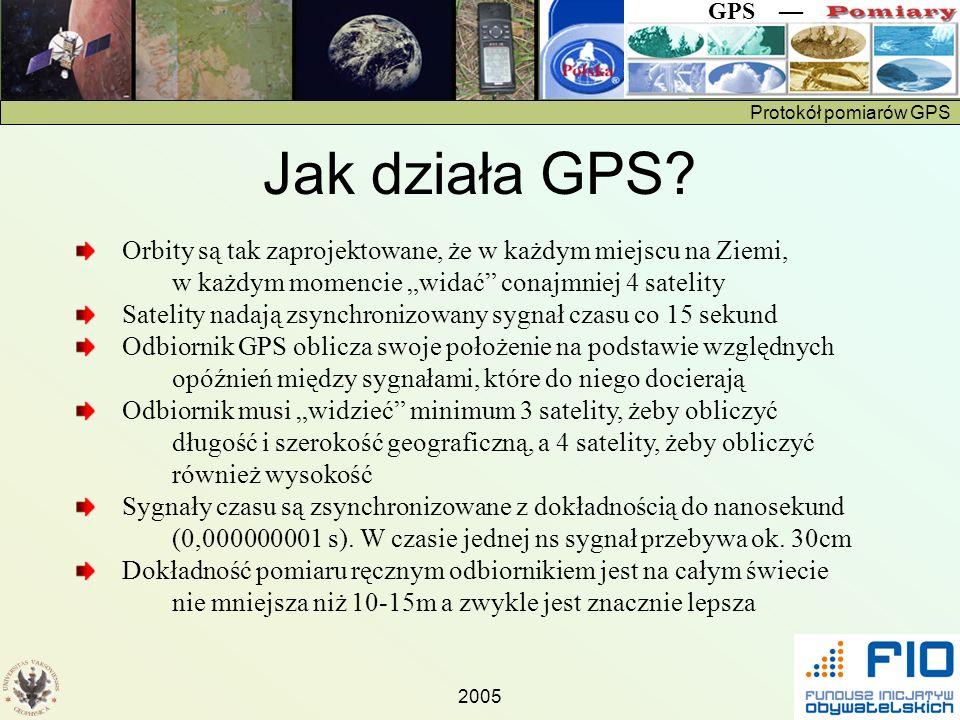 """Jak działa GPS Orbity są tak zaprojektowane, że w każdym miejscu na Ziemi, w każdym momencie """"widać conajmniej 4 satelity."""