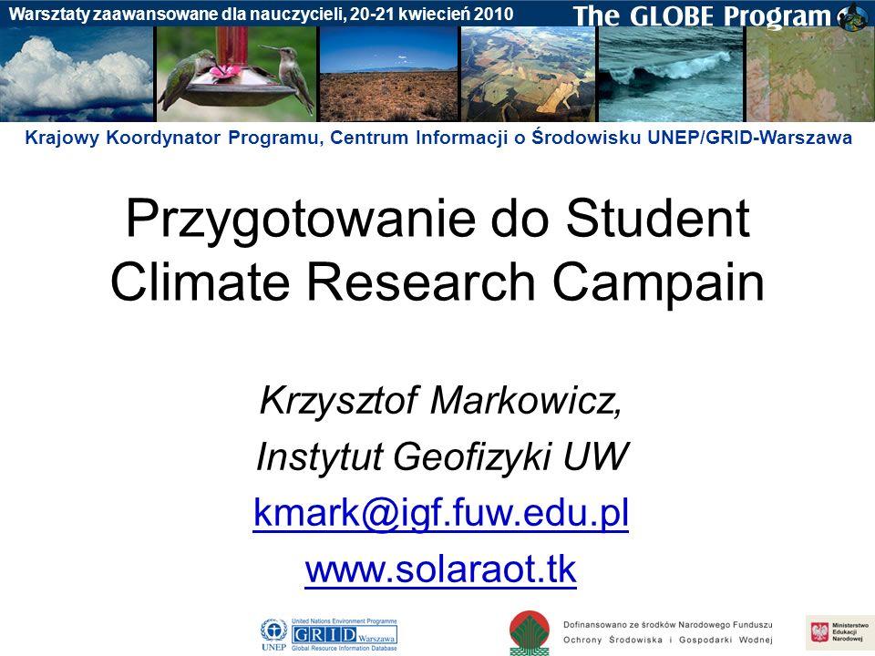 Przygotowanie do Student Climate Research Campain