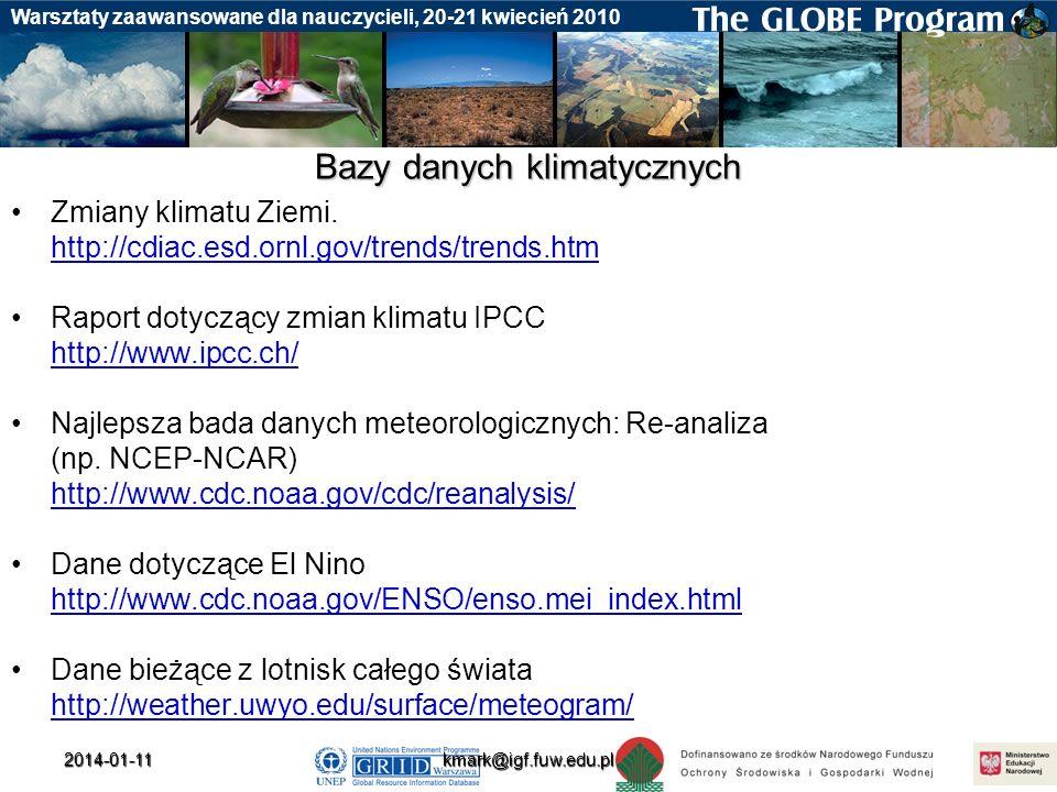 Bazy danych klimatycznych