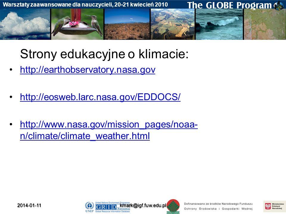 Strony edukacyjne o klimacie: