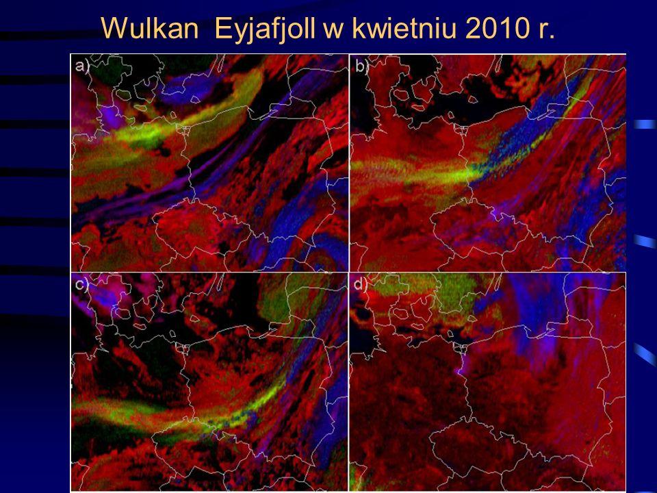 Wulkan Eyjafjoll w kwietniu 2010 r.