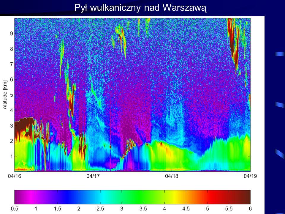 Pył wulkaniczny nad Warszawą