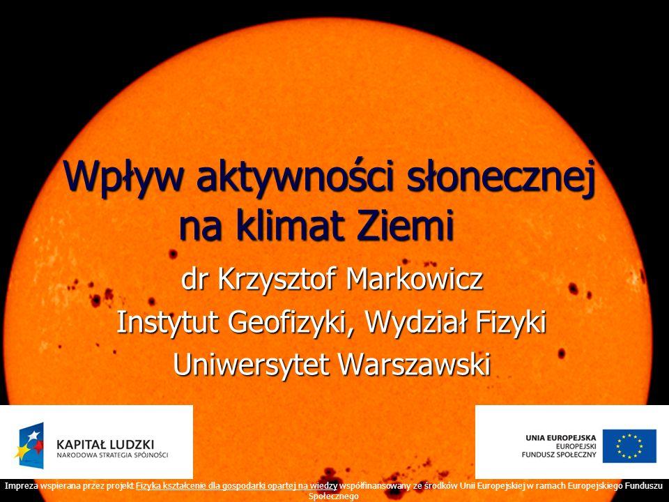 Wpływ aktywności słonecznej na klimat Ziemi