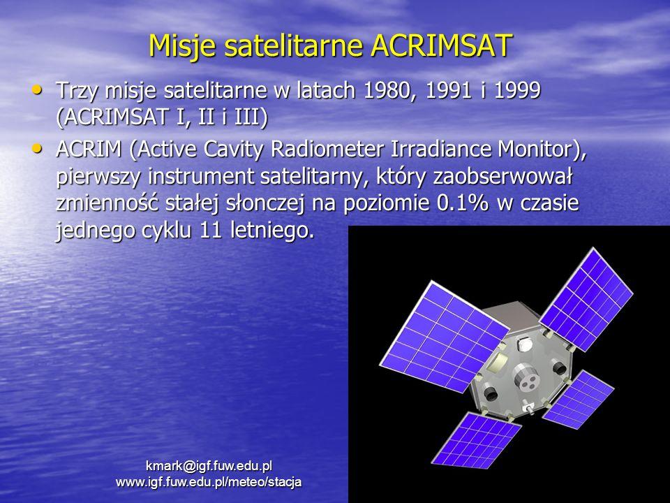 Misje satelitarne ACRIMSAT