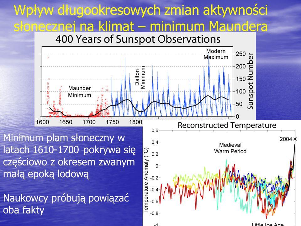 Wpływ długookresowych zmian aktywności słonecznej na klimat – minimum Maundera