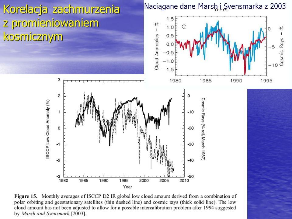 Korelacja zachmurzenia z promieniowaniem kosmicznym