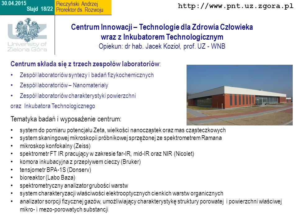 Opiekun: dr hab. Jacek Kozioł, prof. UZ - WNB