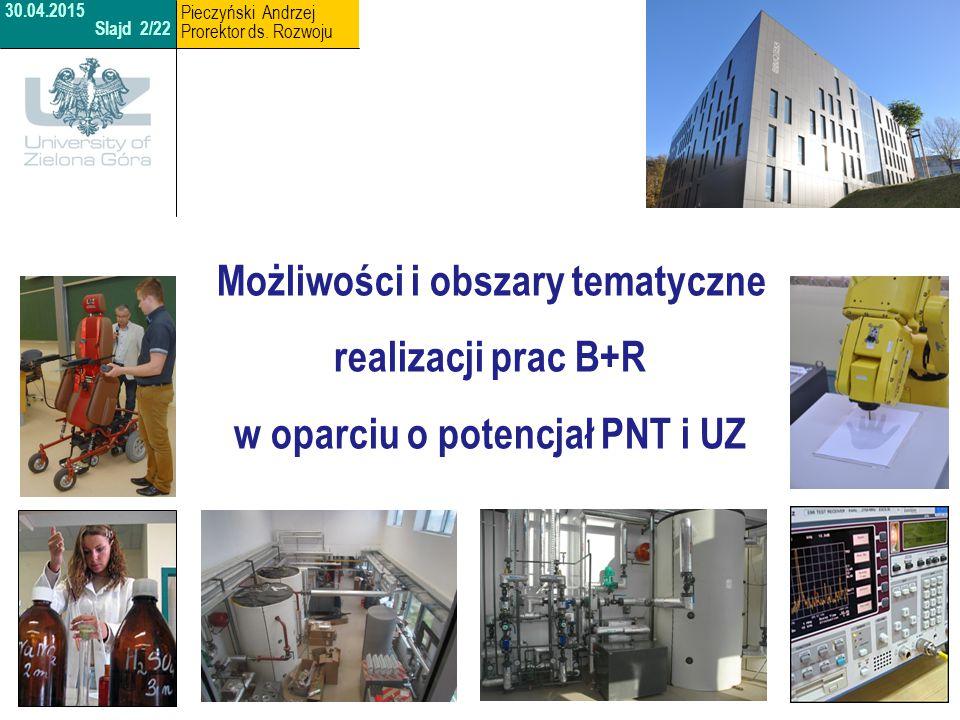 Możliwości i obszary tematyczne w oparciu o potencjał PNT i UZ