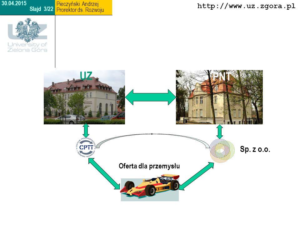 UZ PNT Sp. z o.o. http://www.uz.zgora.pl Oferta dla przemysłu