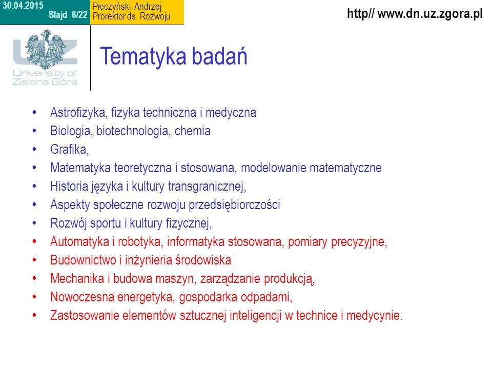 Tematyka badań http// www.dn.uz.zgora.pl
