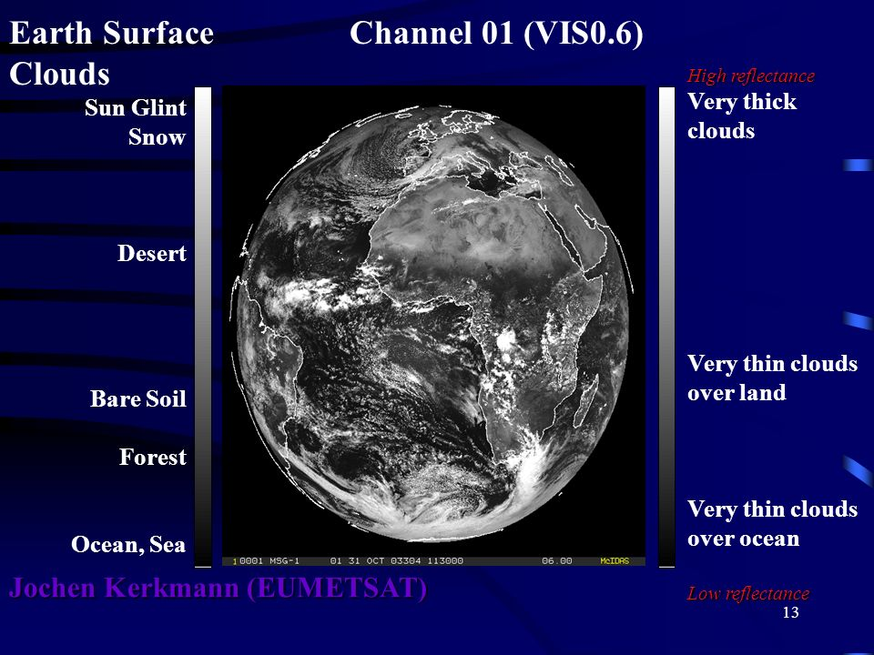 Earth Surface Channel 01 (VIS0.6) Clouds