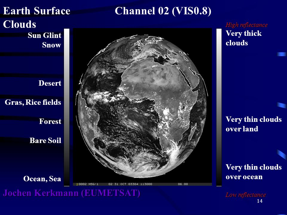 Earth Surface Channel 02 (VIS0.8) Clouds