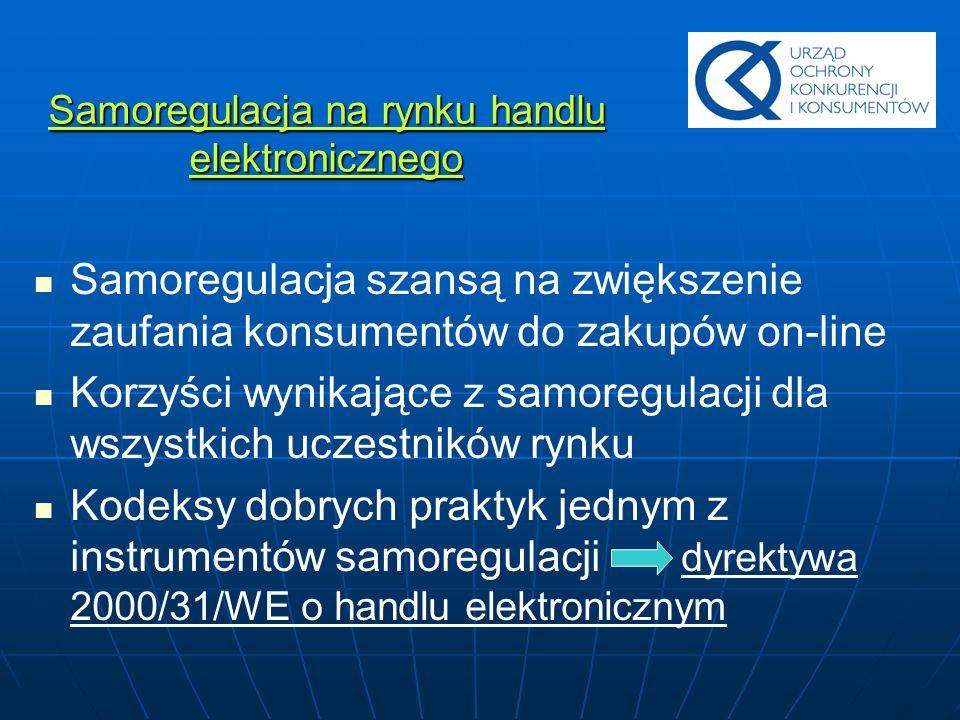 Samoregulacja na rynku handlu elektronicznego