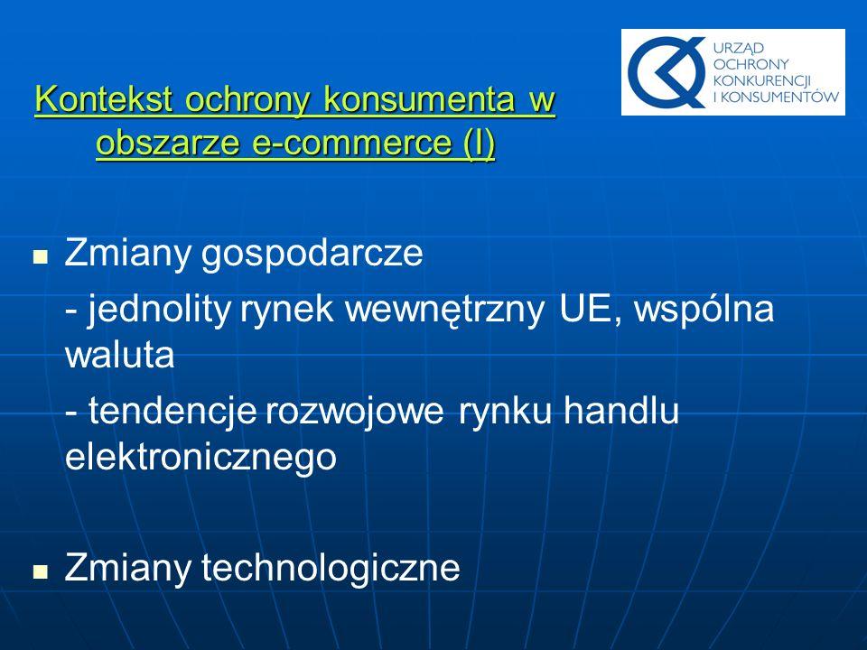 Kontekst ochrony konsumenta w obszarze e-commerce (I)