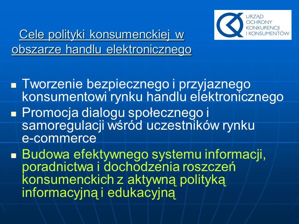 Cele polityki konsumenckiej w obszarze handlu elektronicznego
