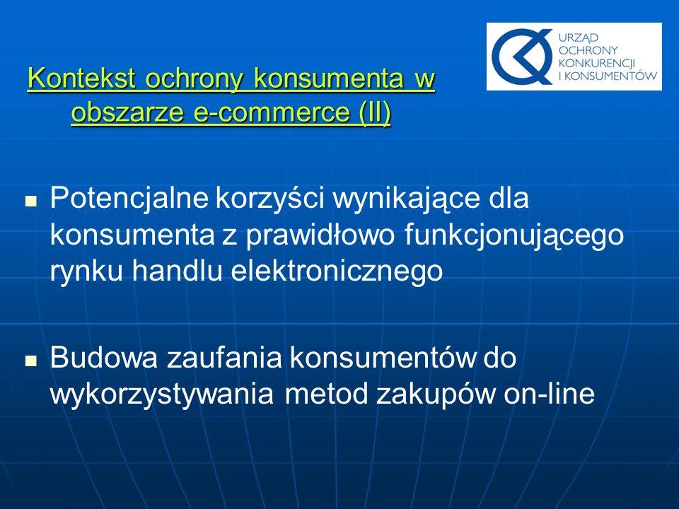 Kontekst ochrony konsumenta w obszarze e-commerce (II)