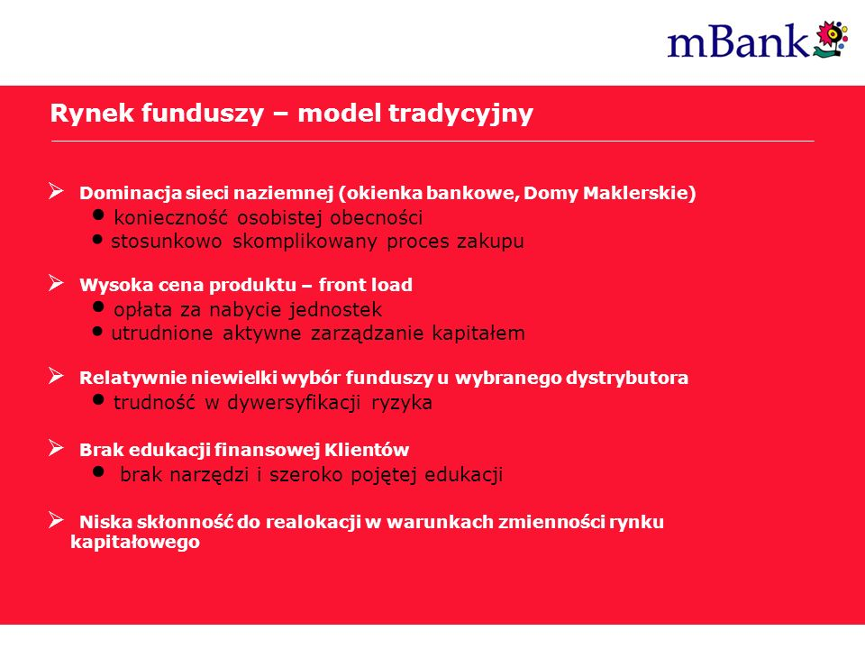 Rynek funduszy – model tradycyjny
