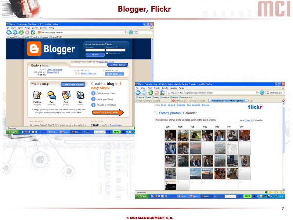 Blogger, Flickr
