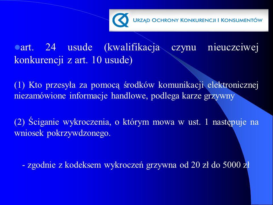 art. 24 usude (kwalifikacja czynu nieuczciwej konkurencji z art