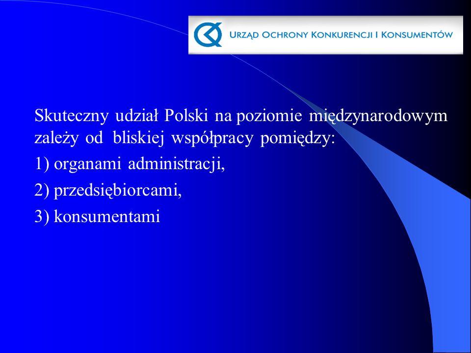 Skuteczny udział Polski na poziomie międzynarodowym zależy od bliskiej współpracy pomiędzy:
