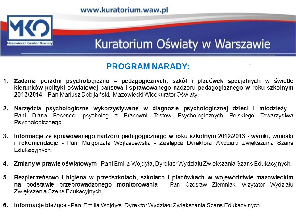 PROGRAM NARADY: