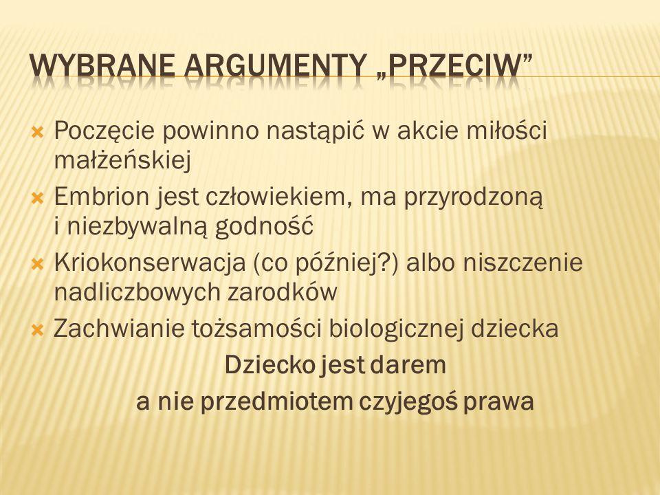 """Wybrane argumenty """"przeciw"""