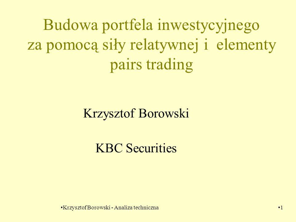 Krzysztof Borowski - Analiza techniczna