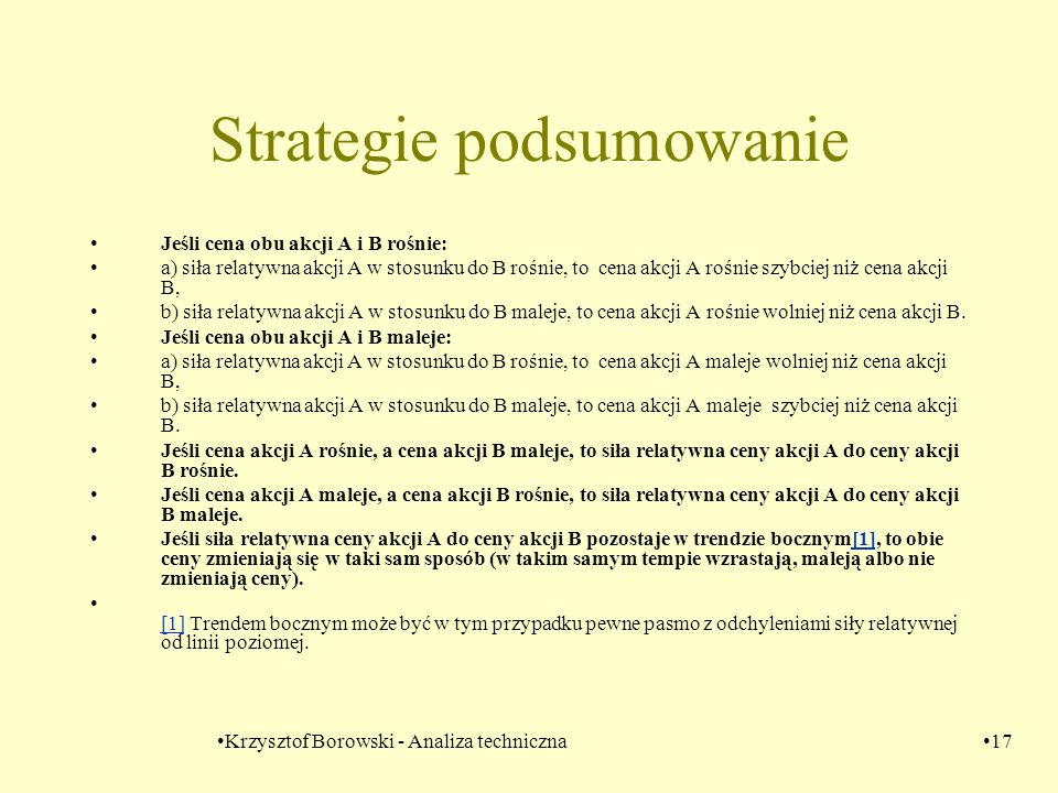 Strategie podsumowanie