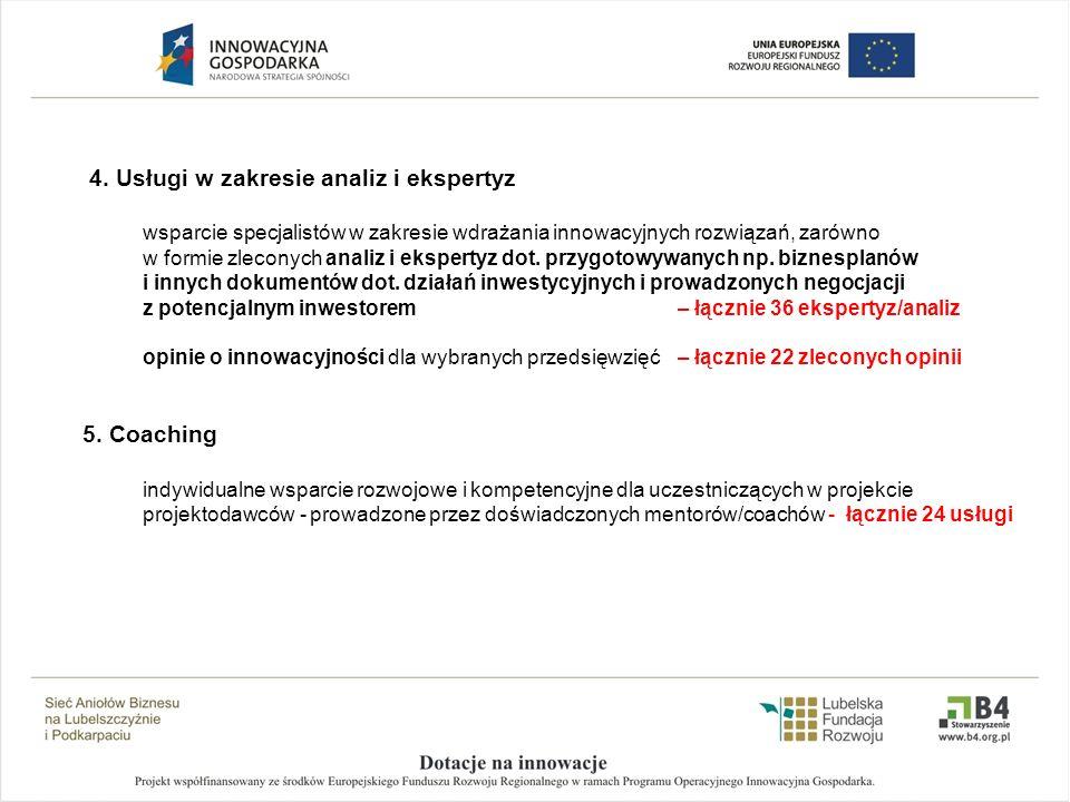 4. Usługi w zakresie analiz i ekspertyz