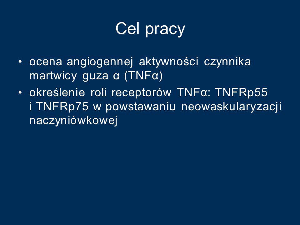 Cel pracy ocena angiogennej aktywności czynnika martwicy guza α (TNFα)