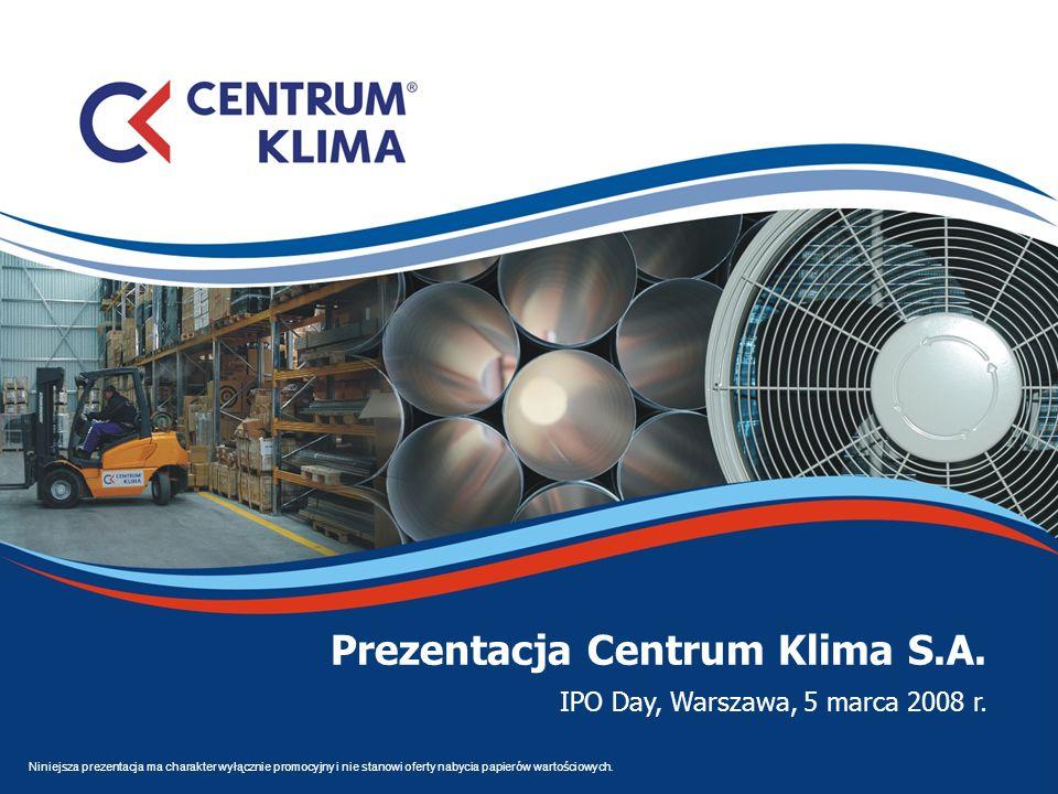 Prezentacja Centrum Klima S.A.
