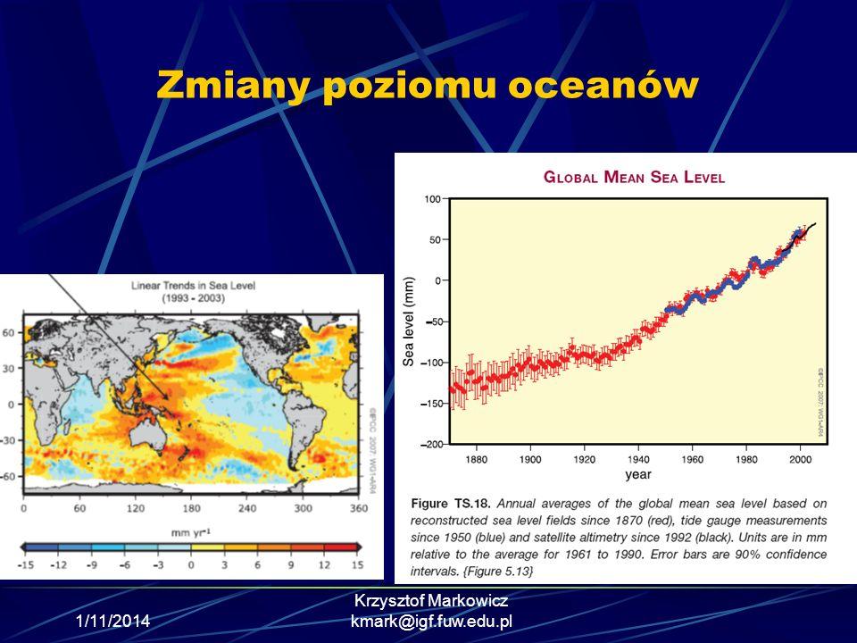 Zmiany poziomu oceanów