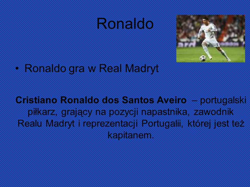 Ronaldo Ronaldo gra w Real Madryt