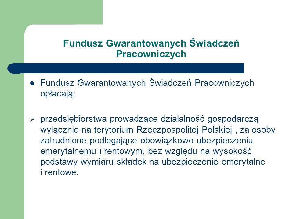 Fundusz Gwarantowanych Świadczeń Pracowniczych