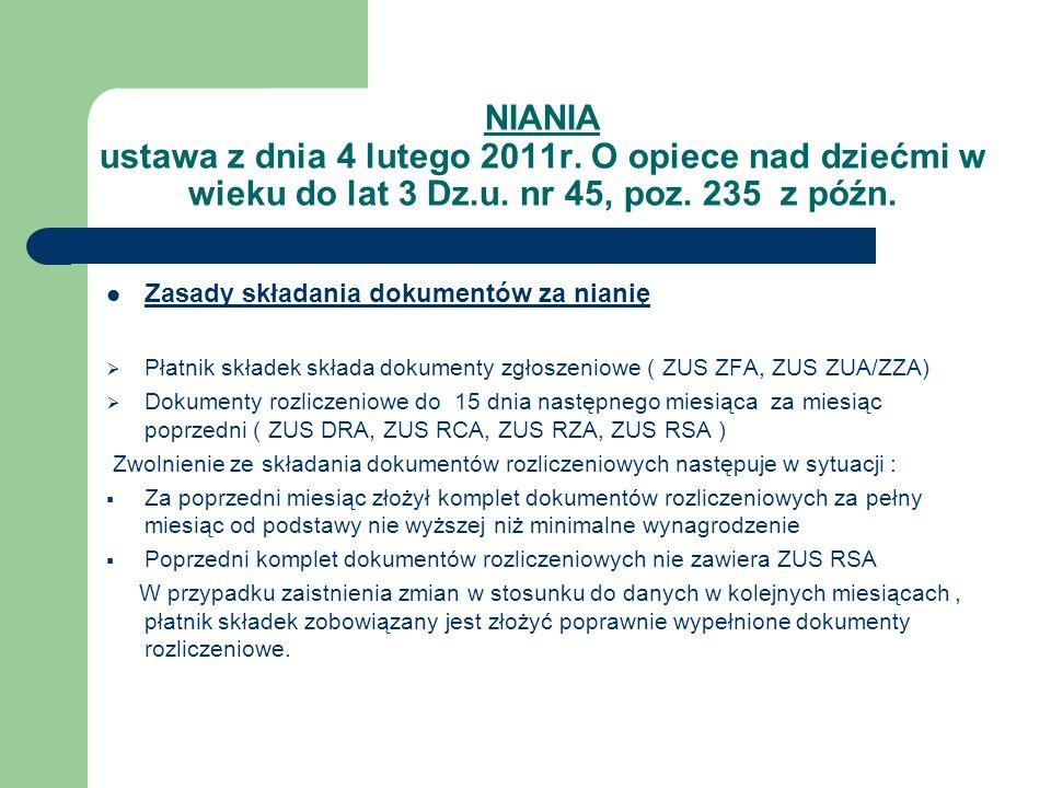 NIANIA ustawa z dnia 4 lutego 2011r