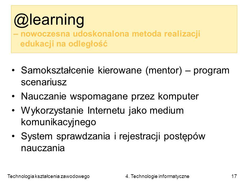 @learning – nowoczesna udoskonalona metoda realizacji edukacji na odległość