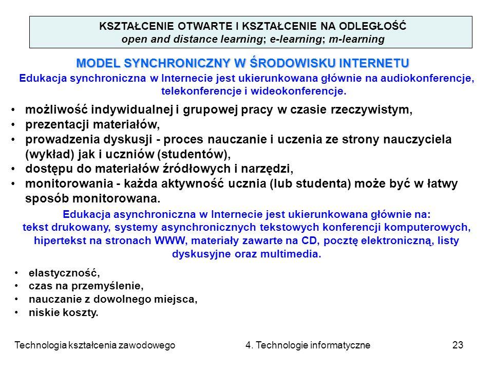 MODEL SYNCHRONICZNY W ŚRODOWISKU INTERNETU