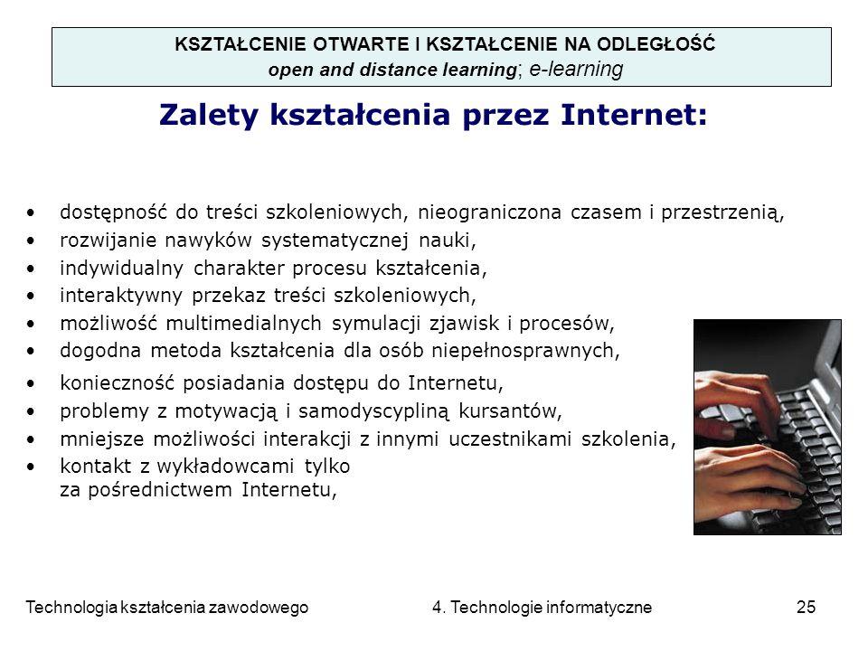 Zalety kształcenia przez Internet: